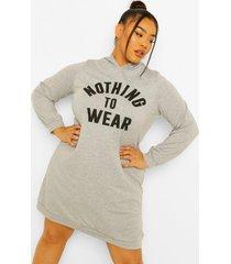 plus nothing to wear sweatshirt jurk met capuchon, grey