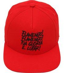boné adidas performance flamengo sb vermelho