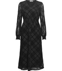 frnemesh 2 dress jurk knielengte zwart fransa