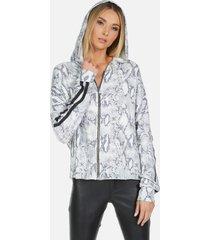 marcellus le grey snake hoodie - grey snake l