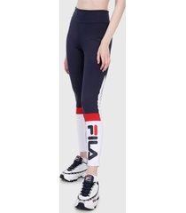 leggings azul-blanco-rojo fila
