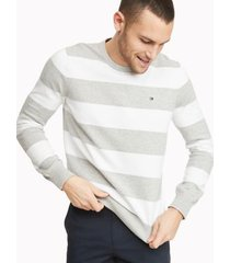 tommy hilfiger men's essential rugby sweater silver heather - xs