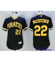 pittsburgh pirates 22# andrew mccutchen black pullover flexbase baseball jersey