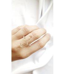 efektowny szklany pierścionek