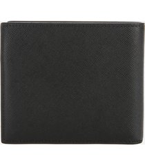 ps paul smith men's mini print bifold wallet - black