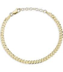 chloe & madison women's 14k yellow gold vermeil curb link bracelet