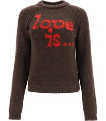 dsquared2 sweater with love is. intarsia