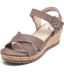 sandalia marrón stylo shoes