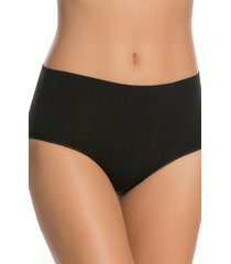 women's spanx everyday shaping panties briefs, size medium - black