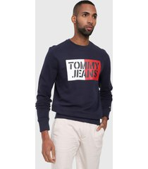 buzo azul-blanco-rojo tommy jeans