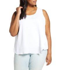 plus size women's nic+zoe promenade top, size 3x - white