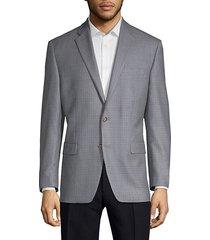 wool silk check sport jacket