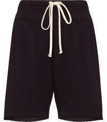 les tien drawstring frayed hem shorts - purple
