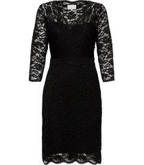 jessa lace dress jurk knielengte zwart minus