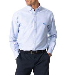 men's rodd & gunn north island solid button-down shirt, size x-small - blue