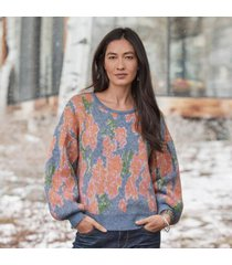 sundance catalog women's kristan sweater in floral large