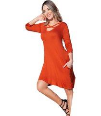 vestido corto para mujer ladrillo mp