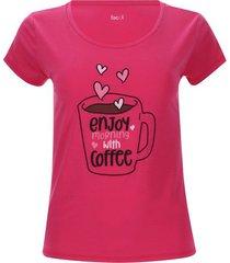 camiseta descanso coffee color rosado, talla l