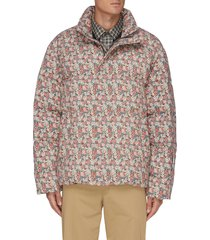 'mary on panama' floral print quilted puff jacket