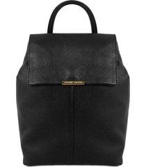 tuscany leather tl141706 tl bag - zaino donna in pelle morbida nero