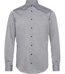 light grey with small black pattern overhemd business grijs bosweel