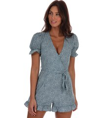 womens spotted playsuit