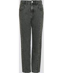 lössittande jeans - svart