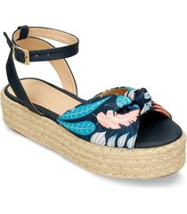 sandalias azul/estampado bata hasem mujer