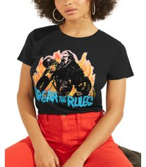 guess break the rules graphic print cotton t-shirt
