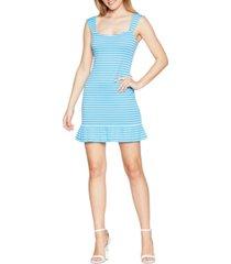 bcbgeneration striped knit cap-sleeve bodycon dress