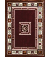 "asbury looms antiquities oriental border 1900 01039 33 burgundy 2'7"" x 3'11"" area rug"