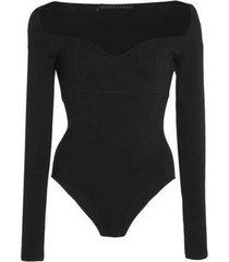 black princess knit bodysuit