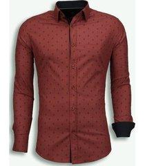 overhemd lange mouw tony backer italiaanse overhemden - slim fit - french lelie pattern -