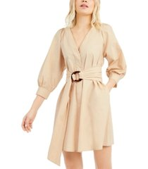 marella belted fit & flare dress
