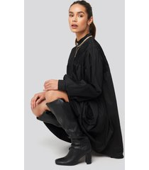 na-kd trend ruffle detail short dress - black