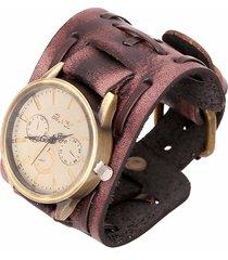 vigilanza del braccialetto di cuoio di roccia della vigilanza dell'annata punk per il regalo degli uomini
