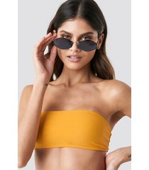 na-kd swimwear bandeau bikini top - yellow