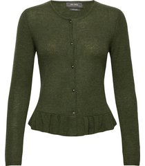 alice cashmere cardigan stickad tröja cardigan grön mos mosh