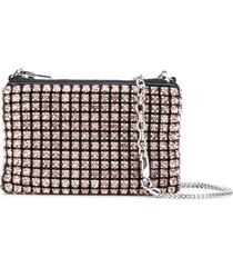 alexander wang crystal embellished clutch - pink