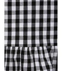 rutig kjol mona svart::vit