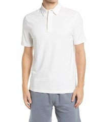 faherty movement short sleeve polo shirt, size small in white at nordstrom