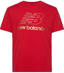 nb athletics podium tee t-shirts short-sleeved röd new balance