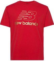 nb athletics podium tee t-shirts short-sleeved röd new balance