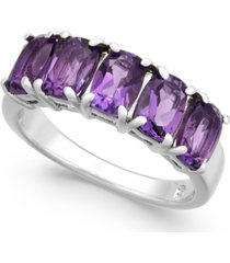 amethyst five stone ring (2-9/10 ct. t.w.) in sterling silver