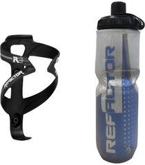 caramanhola garrafa termica bike com suporte e parafusos - azul - dafiti
