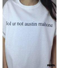 lol ur not austin mahone - short sleeve unisex tee - white / black