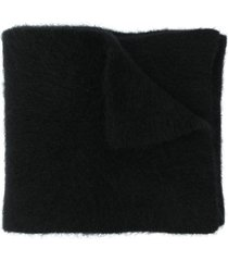 roberto collina plush wool scarf - black
