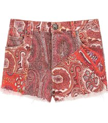 etro ibiza denim shorts