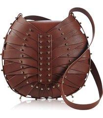 una burke designer handbags, tan flat shield shoulder bag