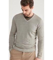 maglia scollo v in lana merino